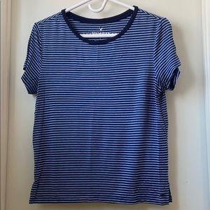 American Eagle Blue Striped t-shirt